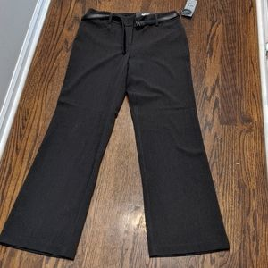 Apt 9 Charcoal Curvy Trousers with Belt